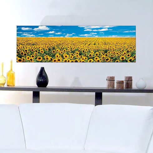 """A Sunflower Field in Provence"" by Anthea Images Photographic Print Plaque"