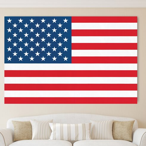 """Stars and Stripes"" by Wyndham Boulter Graphic Art Plaque"
