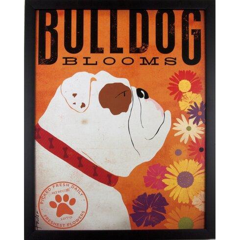 Bulldog Framed Graphic Art