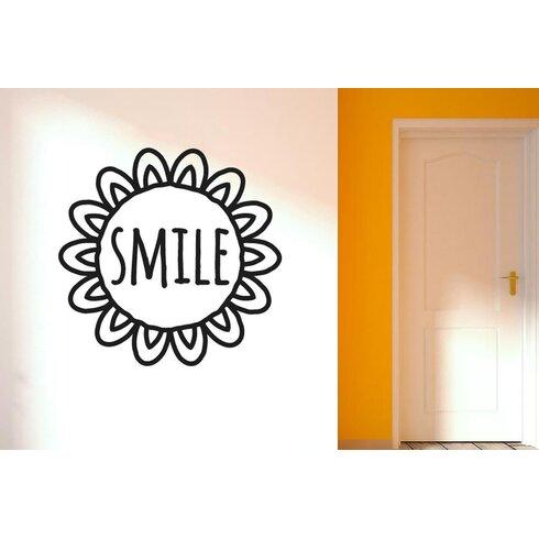Smile within Sunflower Wall Sticker
