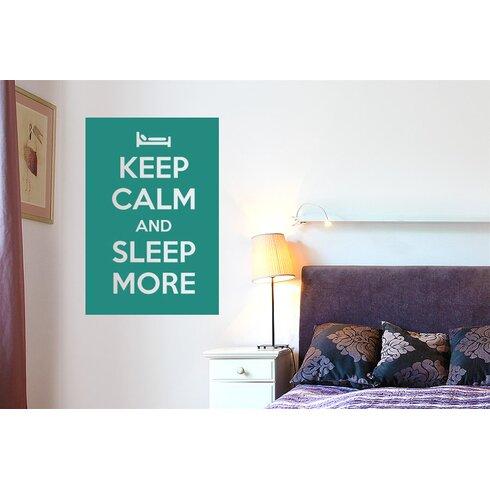Keep Calm And Sleep More Wall Sticker