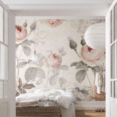 La Maison Floral 368m x 248cm 4 Piece Wall Mural