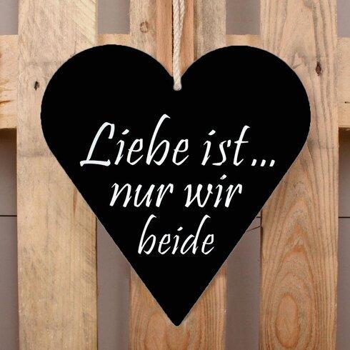 Schild-Set HE-Liebe ist…, Typographische Kunst in Schwarz