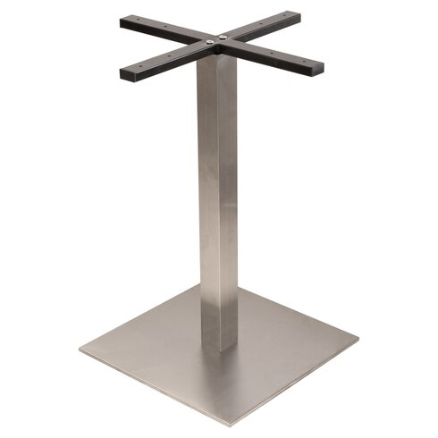 Gravitas Square Table Base in Stainless Steel