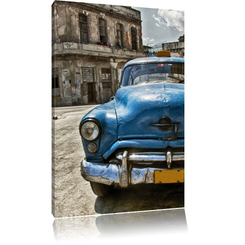 Blue Beetle Old Town Photographic Print on Canvas