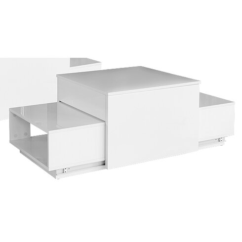 Coffee Table with Sliding Compartment Storage