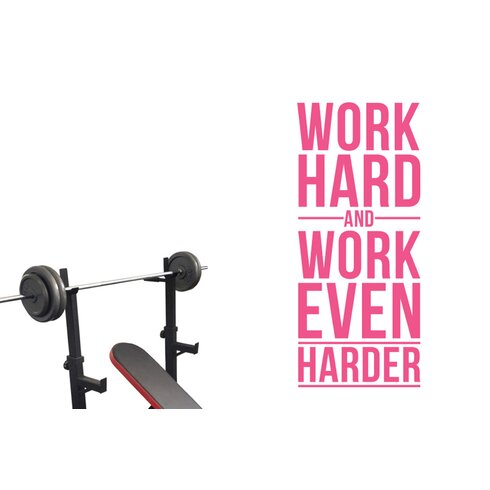 Work Hard And Work Even Harder Wall Sticker