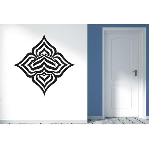 Abstract Lotus Leaf Wall Sticker