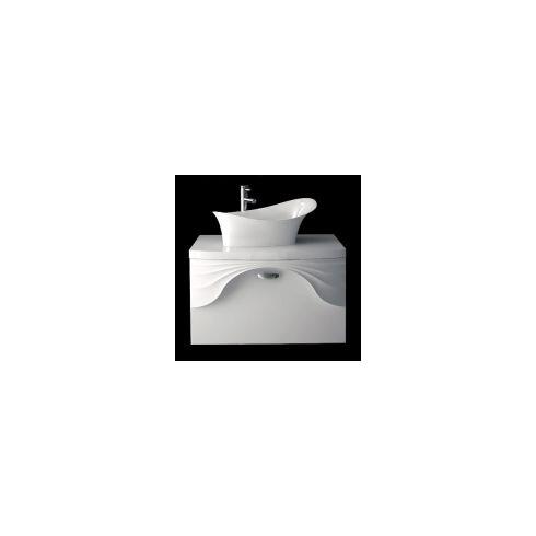 81 cm Wandmontierter Waschtisch mit Armatur