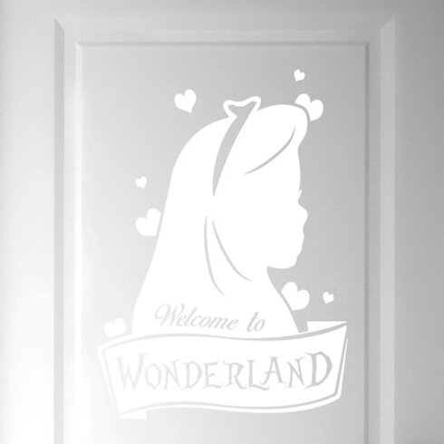 Welcome to Wonderland Door Room Wall Sticker
