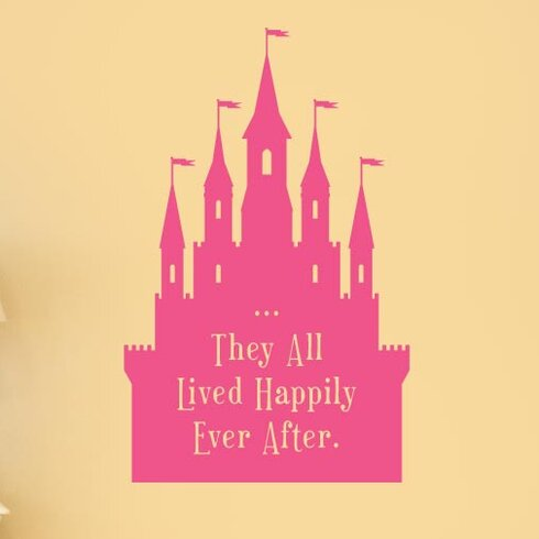 They All Lived Happily Ever After Fairytale Wall Sticker