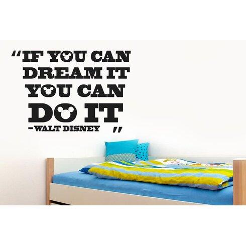 "Walt Disney ""If You Can Dream It You Can Do It"" Wall Sticker"