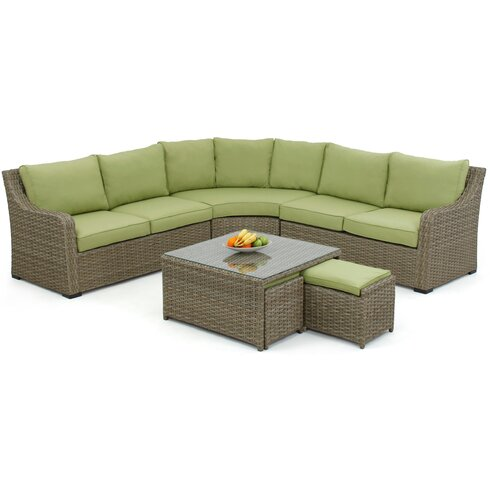 Milan 7 Seater Sectional Sofa Set with Cushions