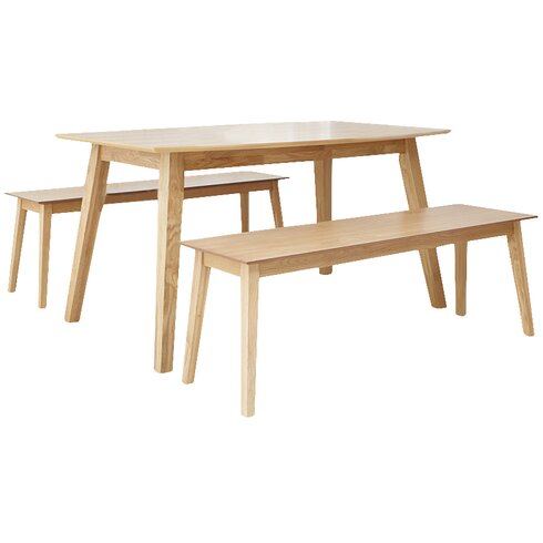 Manor Barton Dining Table and 2 Benches