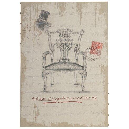Antique Chippendale Chair Art Print on Canvas