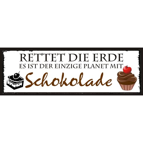 Schokolade Graphic Art Plaque