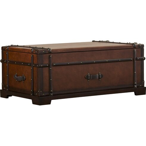 Darby Home Co Delavan Steamer Coffee Table Trunk with Lift Top
