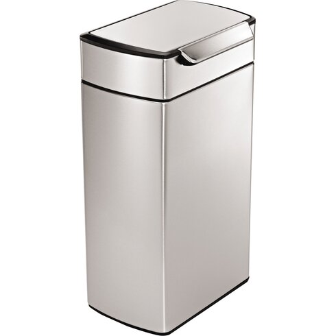 40L Touch Top Metal Bin