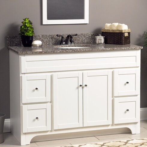 Hazelwood Home Worthington Bathroom Vanity Base Reviews Wayfair