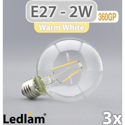 3-tlg. LED-Set E27