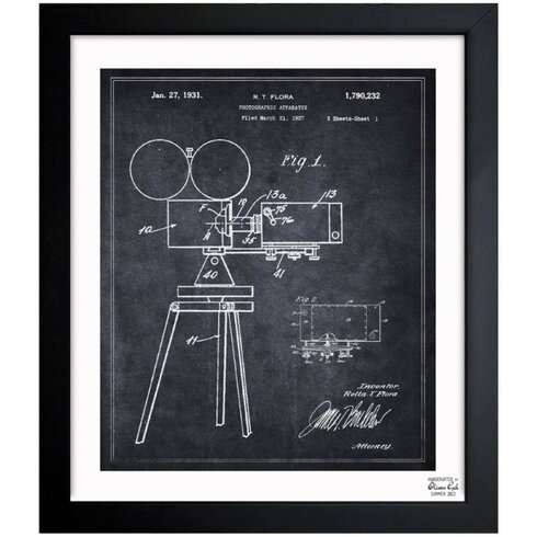 Lake Forest 'Photographic Apparatus 1931' Framed Graphic Art