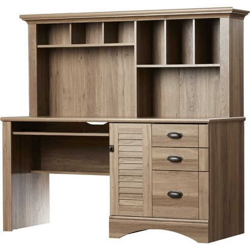 beachcrest home pinellas rectangular computer desk with hutch and storage drawers reviews. Black Bedroom Furniture Sets. Home Design Ideas