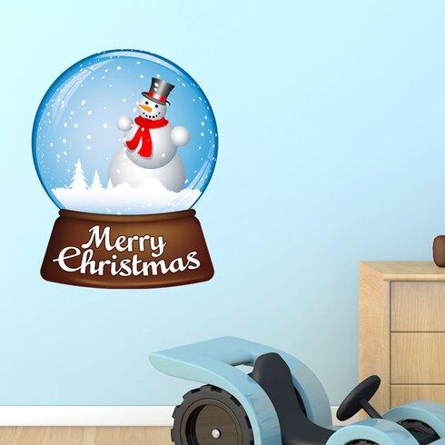 Wandsticker Merry Christmas, Schneekugel
