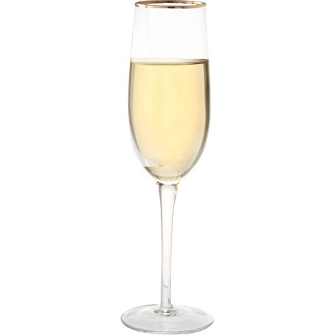 0.2L Champagne Flutes in Gold Line