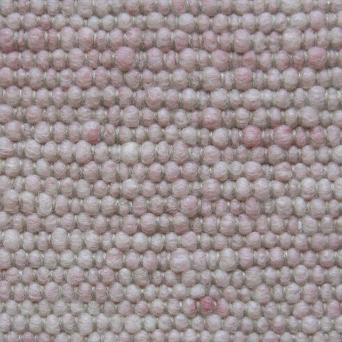 Handgearbeiteter Teppich  in Dunkelrosa