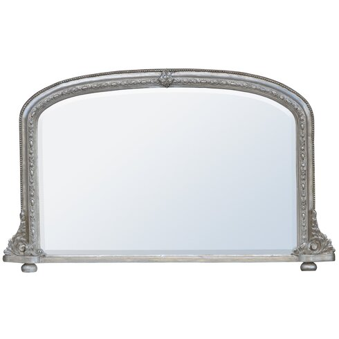 Overmantle Beveled Mirror