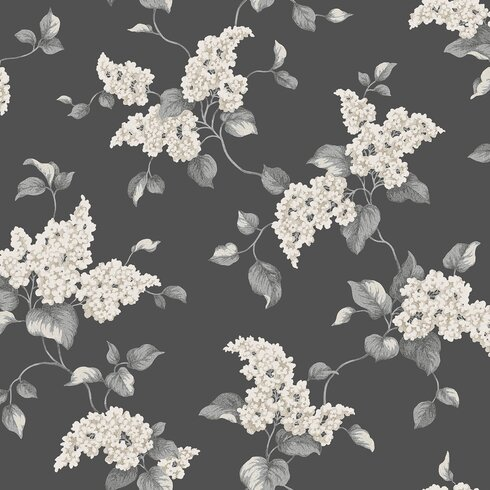 English Printed 10m L x 53cm W Floral and Botanical Roll Wallpaper