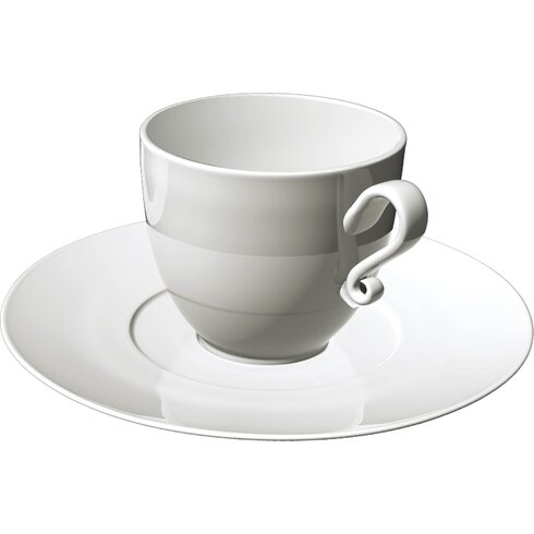 Trame 4 Piece Breakfast Cup and Saucer Set