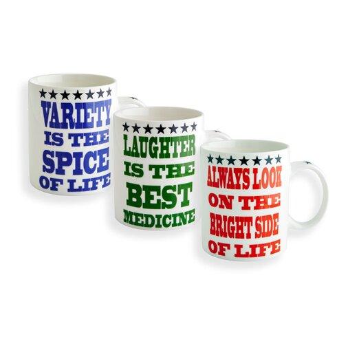 3 Piece Star Saying Mug Set