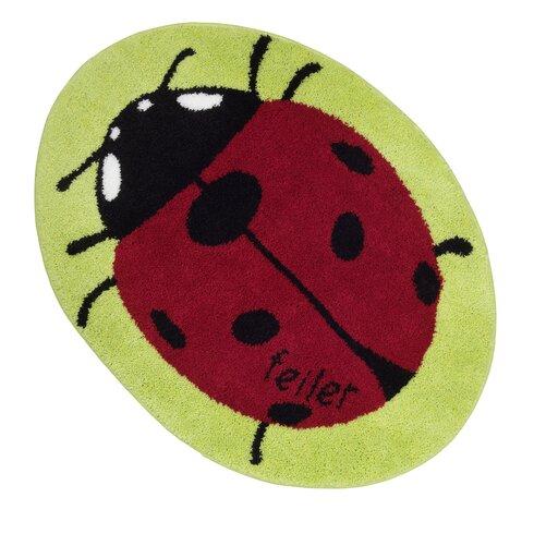 Teppich Pauli in Grün/Rot