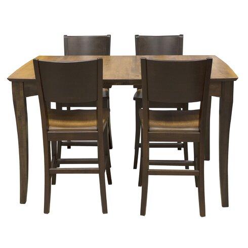 AmeriHome 5 Piece Counter Height Dining Set Wayfair
