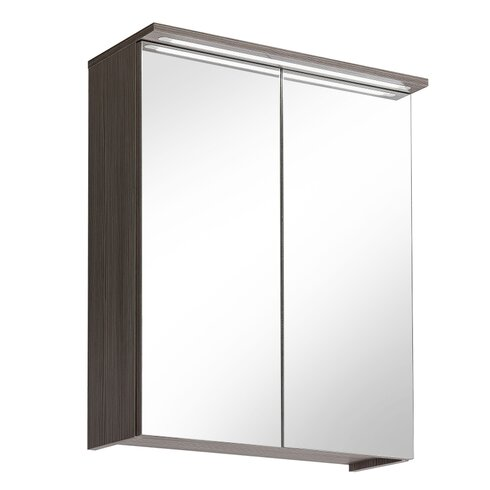 60cm x 75cm Surface Mount Flat Mirror Cabinet with LED Lighting