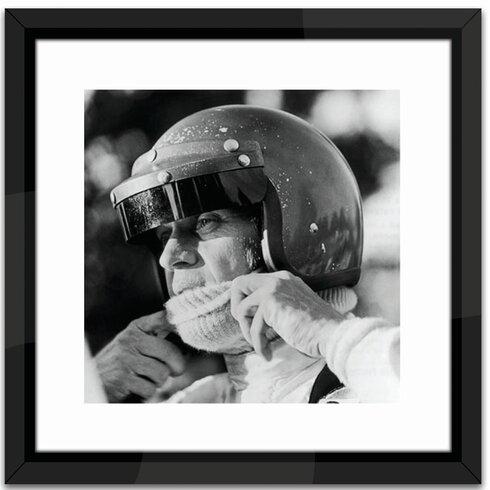 Studio Steve McQueen Racing Framed Photographic Print