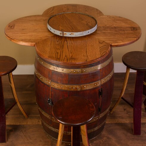 Napa East Collection Wine Barrel 6 Piece Dining Set