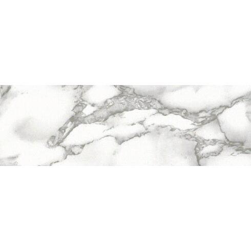 45 cm x 15m Roll Marble, White Sticky Back Plastic Film