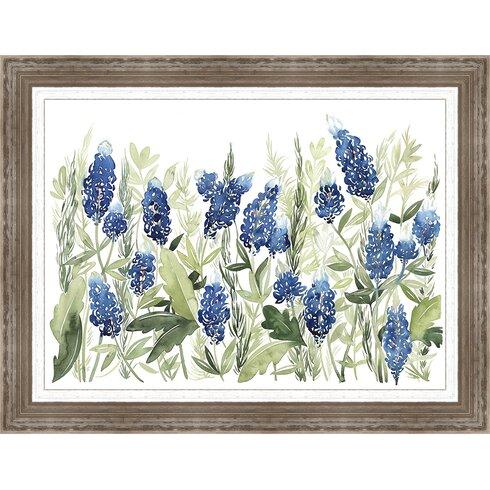Ashton Wall D Cor Llc In Bloom 39 Bluebonnet Iii 39 Framed