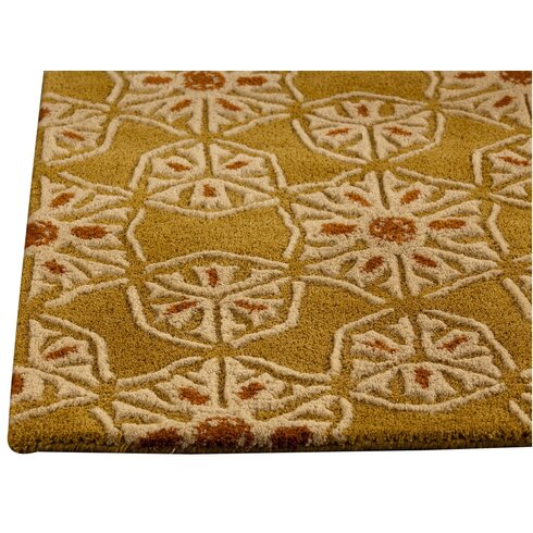 Normandie Hand-Tufted Gold Area Rug