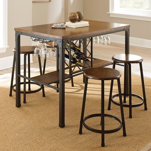 Andover Mills Daisy 3 Piece Counter Height Pub Table Set S