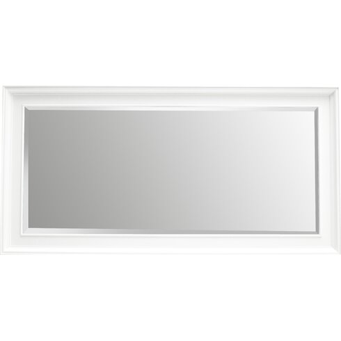 Belle Isle White Mahogany Mirror