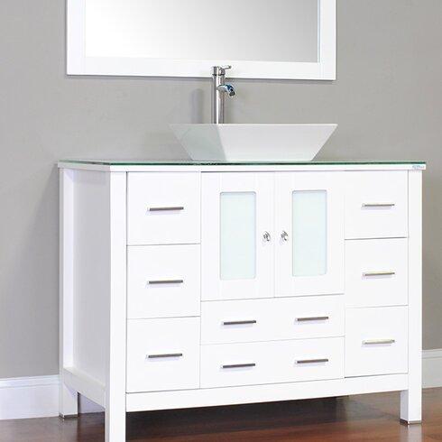 "Alya Bath Leeds 42"" Modern Single Bathroom Vanity Set ..."