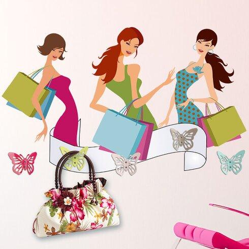 Garderobenhaken Frauen, Taschen, Banner