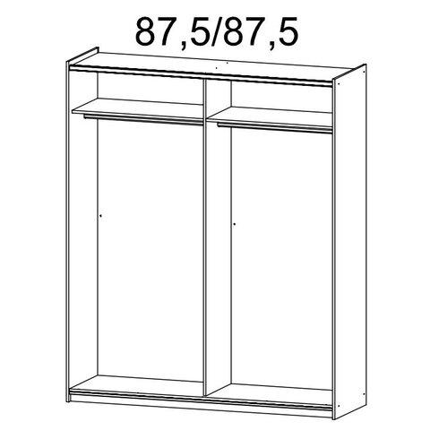Schwebetürenschrank Loriga, 210 cm H x 175 cm B x 59 cm T