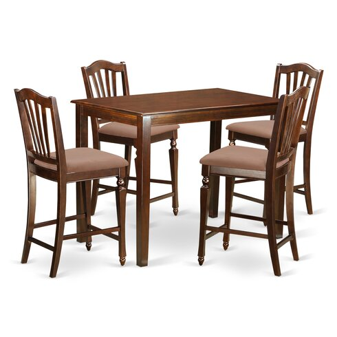 east west yarmouth 5 piece counter height pub table set reviews