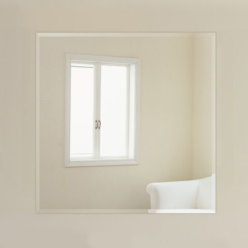 Fab Glass And Mirror Square Beveled Polished Frameless