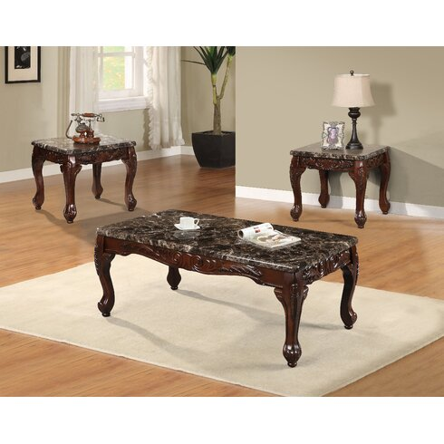 Best Quality Furniture 3 Piece Coffee Table SetReviewsWayfair