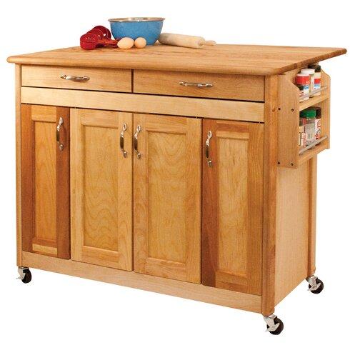Catskill craftsmen kitchen island with wood top reviews for Catskill craftsmen kitchen cabinets